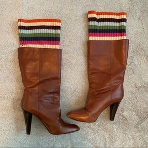 Coach Boots with attached Leg Warmer